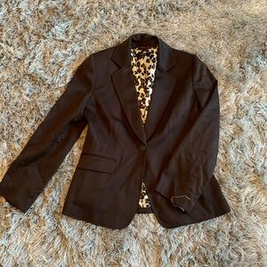 Chocolate blazer with liner